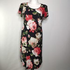 Piphany Lex Rose Dress Size Large w/Waist Tie
